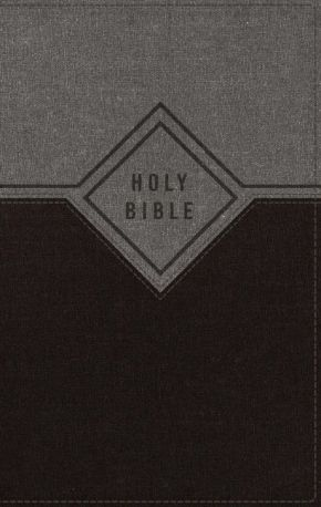 NIV, Premium Gift Bible, Leathersoft, Black/Gray, Red Letter Edition, Thumb Indexed, Comfort Print: The Perfect Bible for Any Gift-Giving Occasion