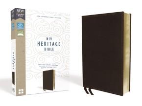 NIV, Heritage Bible, Deluxe Single-Column, Leathersoft, Brown, Comfort Print