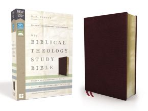 NIV, Biblical Theology Study Bible, Bonded Leather, Burgundy, Comfort Print: Follow God's Redemptive Plan as It Unfolds throughout Scripture