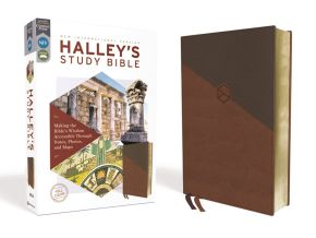 NIV, Halley's Study Bible, Leathersoft, Brown, Red Letter, Comfort Print