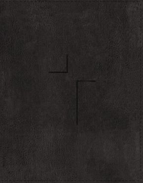 The Jesus Bible, ESV Edition, Leathersoft, Black, Thumb Indexed