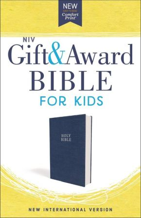 NIV, Gift and Award Bible for Kids, Flexcover, Blue, Comfort Print *Scratch & Dent*
