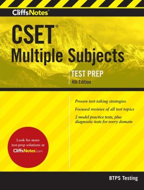 CliffsNotes Cset Multiple Subjects 4th Edition *Scratch & Dent*