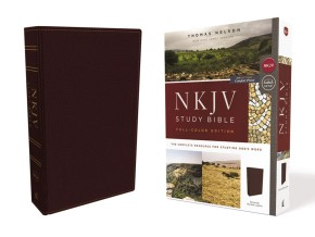 NKJV Study Bible, Bonded Leather, Burgundy, Full-Color, Comfort Print: The Complete Resource for Studying God's Word