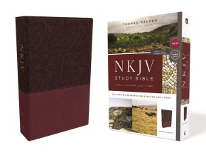 NKJV Study Bible, Leathersoft, Red, Full-Color, Comfort Print: The Complete Resource for Studying God's Word