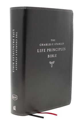KJV, Charles F. Stanley Life Principles Bible, 2nd Edition, Leathersoft, Black, Comfort Print: Growing in Knowledge and Understanding of God Through His Word