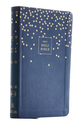 NKJV, Thinline Bible Youth Edition, Leathersoft, Blue, Red Letter Edition, Comfort Print: Holy Bible, New King James Version