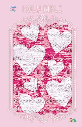 ICB, Sequin Sparkle and Change Bible, Hardcover, Pink