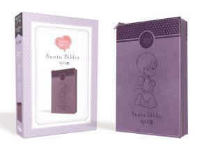 Santa Biblia Precious Moments NVI Angelitos, Ultrafina Compacta Púrpura con cierre (Spanish Edition)