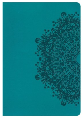 HCSB Giant Print Reference Bible, Teal LeatherTouch, Indexed