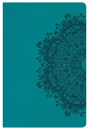 HCSB Large Print Personal Size Bible, Teal LeatherTouch, Indexed