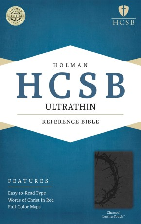 HCSB Ultrathin Reference Bible, Charcoal LeatherTouch