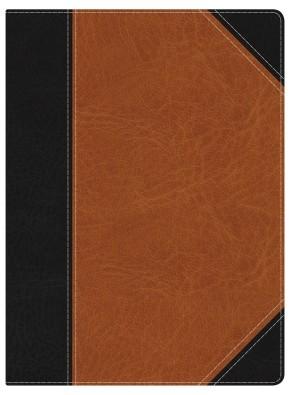 Holman Study Bible: NKJV Edition, Black/Tan LeatherTouch Indexed *Scratch & Dent*