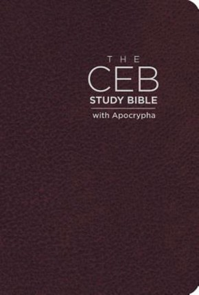 The CEB Study Bible with Apocrypha Bonded Leather Cordovan