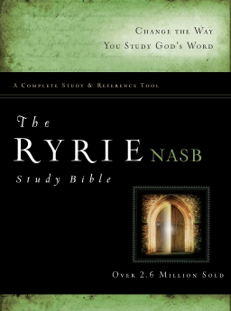 The Ryrie NAS Study Bible Hardcover Red Letter (Ryrie Study Bibles 2008) *Scratch & Dent*