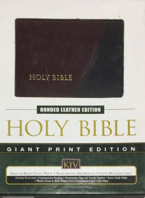KVJ Bible, Giant Print Edition, Two Tone Bonded Leather