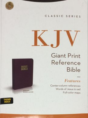 KJV Holy Bible/Giant Print With Center-Column Reference Burgundy 895Bgi