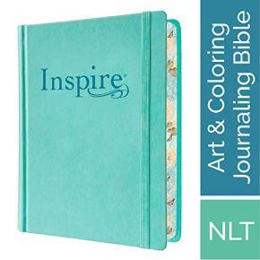 Tyndale NLT Inspire Bible (Hardcover, Aquamarine)
