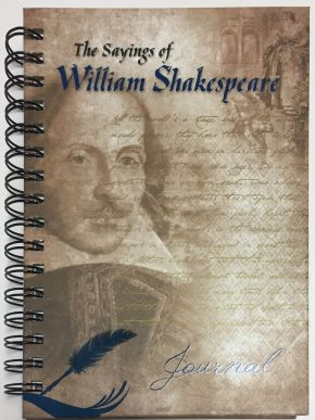The Sayings of William Shakespeare Wire-O Journal Medium