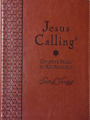 Young Sarah Jesus Calling (Deluxe Edition) Large Print-Brown LeatherSoft (CBA Exclusive)