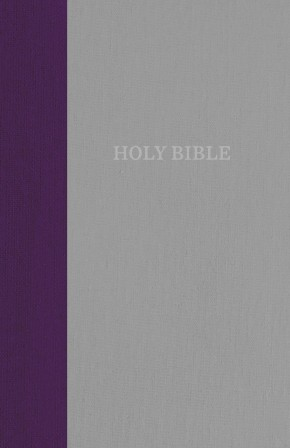 KJV, Thinline Bible, Standard Print, Cloth over Board, Purple/Gray, Red Letter Edition, Comfort Print