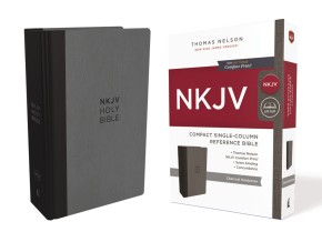 NKJV, Compact Single-Column Reference Bible, Hardcover, Gray, Comfort Print: Holy Bible, New King James Version