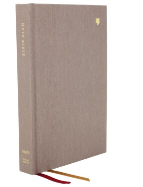 NET Bible, Thinline Large Print, Cloth over Board, Gray, Comfort Print: Holy Bible
