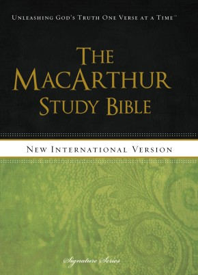 NIV, The MacArthur Study Bible, Hardcover (Signature)