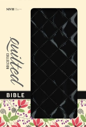 NIV, Quilted Collection Bible, Imitation Leather, Black, Red Letter Edition