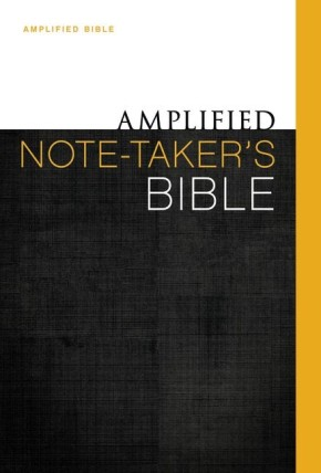 Amplified Note-Taker's Bible, Hardcover