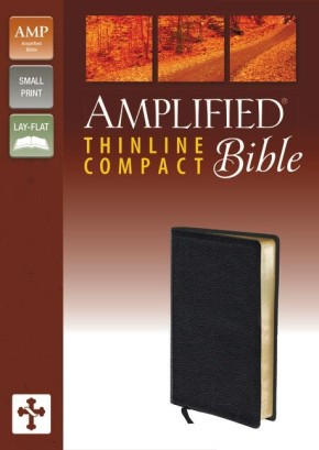 Amplified Thinline Bible, Compact, Bonded Leather, Black