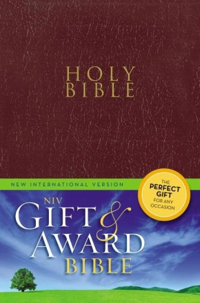 NIV, Gift and Award Bible, Imitation Leather, Burgundy, Red Letter Edition
