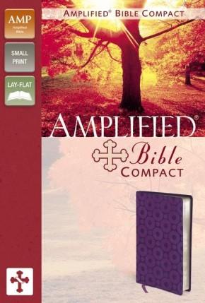 Amplified Bible, Compact, Leathersoft, Purple
