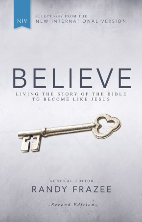 NIV, Believe, Hardcover: Living the Story of the Bible to Become Like Jesus *Scratch & Dent*