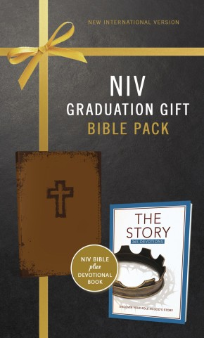 NIV, Graduation Gift, Bible Pack for Him, Brown, Red Letter Edition