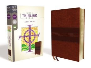 NRSV, Thinline Bible, Large Print, Leathersoft, Brown, Comfort Print