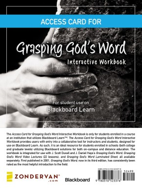 Access Card for Grasping God's Word Interactive Workbook: For Student Use on the Blackboard Learn(TM) Platform