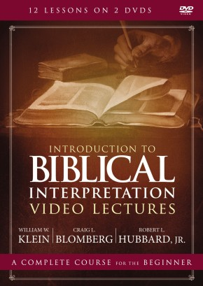 Introduction to Biblical Interpretation Video Lectures: An Introduction