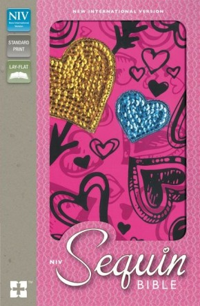 NIV, Sequin Bible, Hardcover, Pink