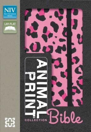 NIV, Animal Print Collection Bible: Leopard, Leathersoft, Pink/Black