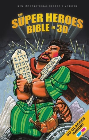 NIrV, The Super Heroes Bible in 3D, Hardcover *Scratch & Dent*