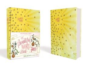 NIV, Beautiful Word Bible for Girls, Hardcover, Sunburst: 500 Full-Color Illustrated Verses