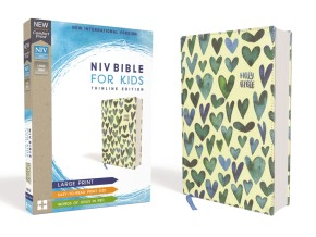NIV, Bible for Kids, Large Print, Cloth over Board, Teal, Red Letter Edition, Comfort Print: Thinline Edition