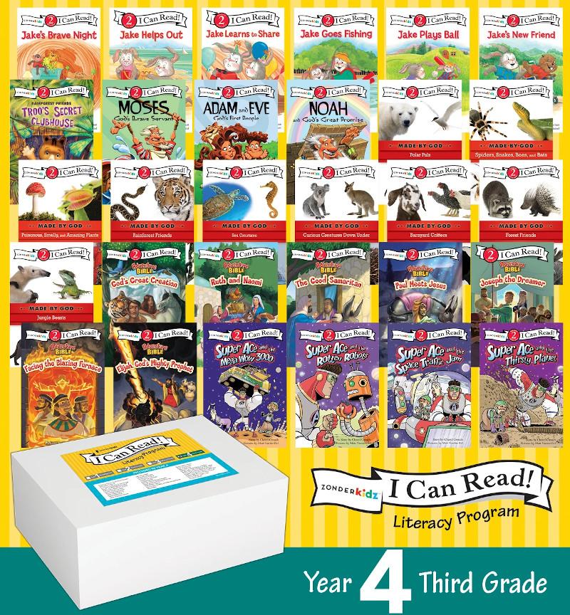 I Can Read Literacy Set Year 4 Third Grade Bundle Zonderkidz